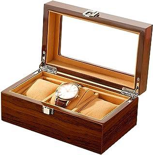 Adesign Regardez la boîte à Bijoux pour Hommes et Femmes, boîte d'organisation 3SLOT avec Plateau en Verre, boîtier de Mon...