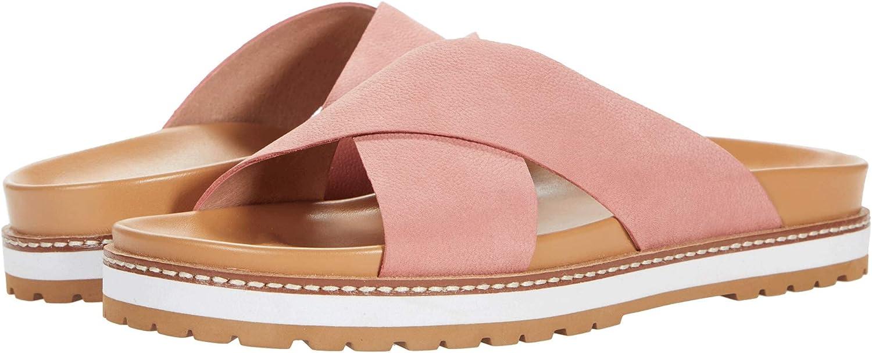Madewell Dayna Lug Sole Slide Sandal in Nubuck Leather