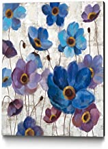 Giant Art Bold Anemones Ready to Hang Artwork 30 x 30 Purple/Blue