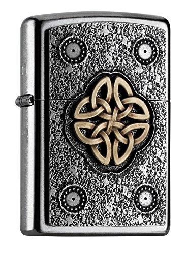 Zippo Zippo Celtic Knot-Street Chrome Feuerzeug, silber, one size Silber