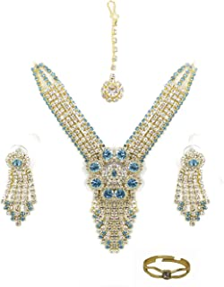Confidence Bridal American Diamond Necklace Set Karwachauth Gift for Women And Girls