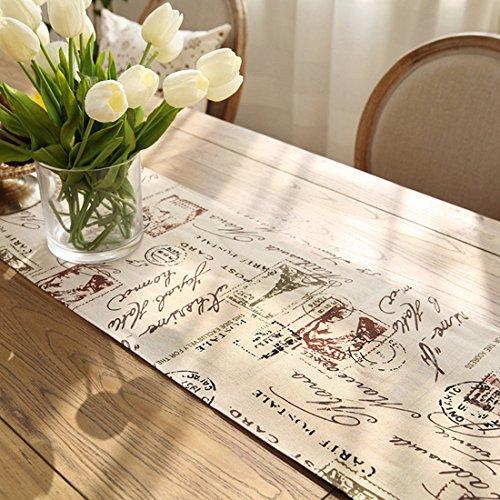 (サムホーム)Sameshome欧風スタンダードタイプエレガントな柄テーブルランナーストリップタッセル