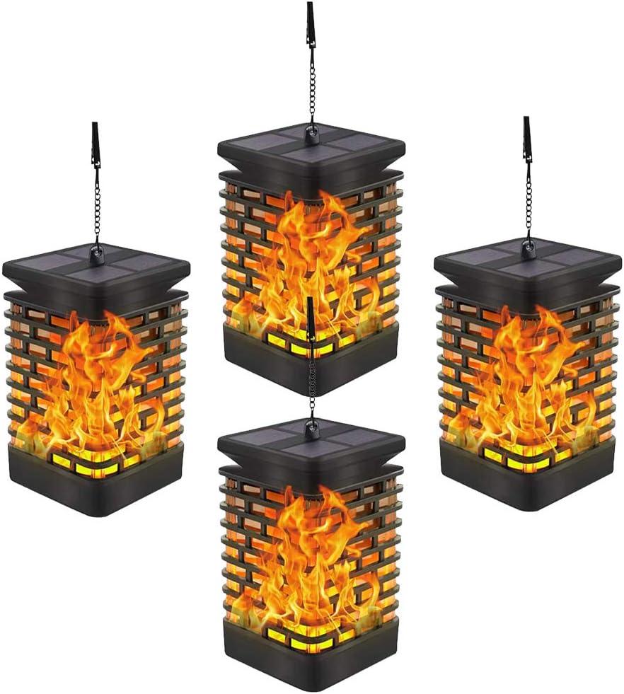 YEHOBU 4 years warranty Solar 2021 spring and summer new Lanterns Lights Flickering Outdoor Flame Waterproof