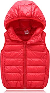 Fulision Children's Boys Girls Cotton Outwear Down Vest Autumn Winter Lightweight hot Selling Windproof boy Sleeveless Dow...