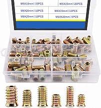 66 stks M6 M8 M10 verzinkt Koolstofstaal Hex Moer Socket Drive Nuts Kit voor Houten Meubels Decoratie Nut Set