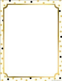 Barker Creek Designer Computer Paper - Gold, 8-1/2 x 11