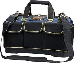 AIRAJ 42 * 23 * 29 cm brede mond gereedschapstas, grote opbergtas, canvas kit met ABS waterbestendig gegoten basis, elektr...