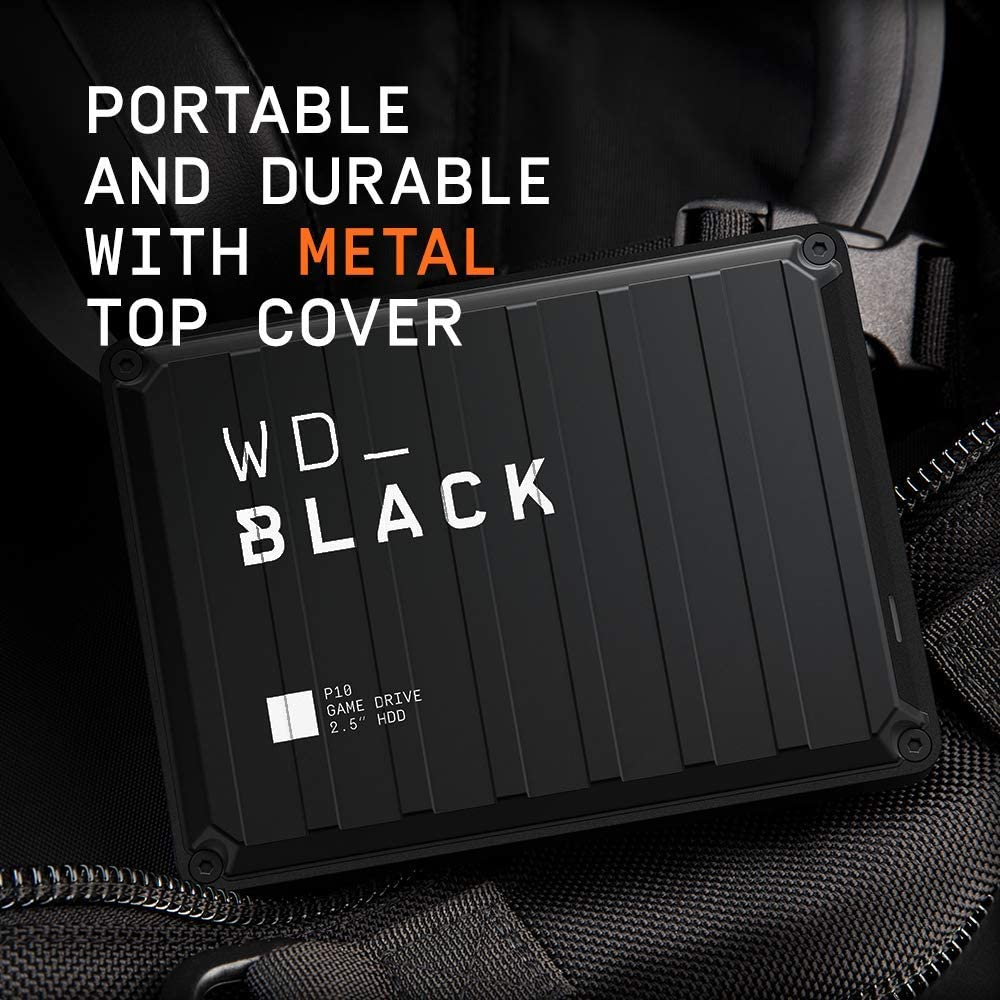 WD_BLACK 4TB P10 Game Drive - Portable External Hard Drive HDD, Compatible with Playstation, Xbox, PC, & Mac - WDBA3A0040BBK-WESN