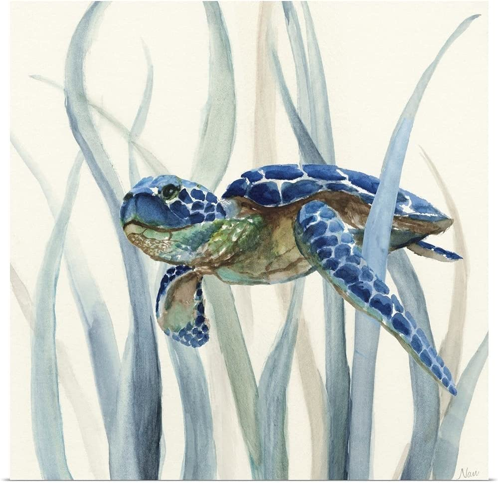 GREATBIGCANVAS Turtle Sales results No. 1 in Seagrass II Poster Print Super beauty product restock quality top! Fine Sea Art