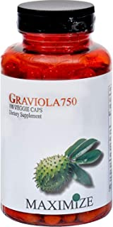 Maximize Graviola 750 by Maximum International -100 Veggie Caps