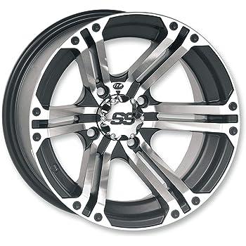 4//156 4+3 ITP Storm Series Hurricane Wheel Matte Black 14x7 1428638536B