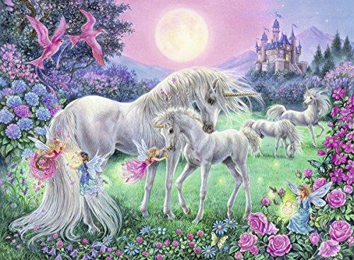 Ravensburger Kinderpuzzle 13670 - Einhörner im Mondschein 100 Teile XXL - Puzzle für Kinder ab 6 Jahren - Leuchtet im Dunkeln