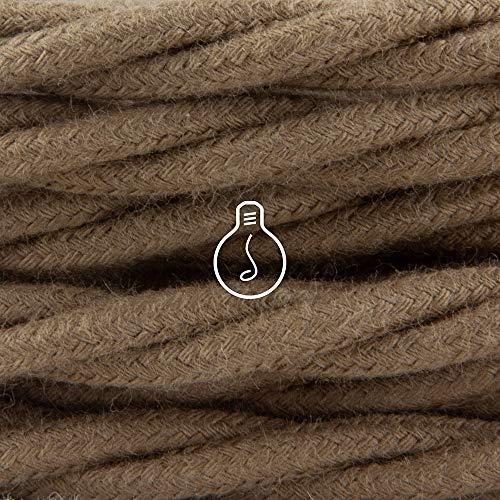 Amarcords eléctrica de alambre trenzado en tejido de fibra natural de algodón...