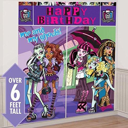 amscan Monster High Riesen Geburtstags Wand Dekorations Poster