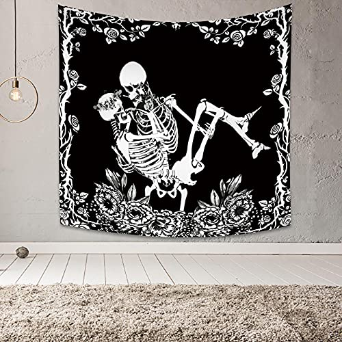 Tarot 3D tapiz decorativo esqueleto amante adivinación colgante bohemio decorar vida hogar 130x150cm / M