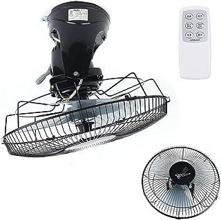 Ventilador de pared con mando a distancia, 16 pulgadas de diámetro, 3 velocidades, ventilador de techo