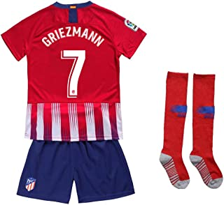 044d6adee Kaner Mongkok 7 Griezmann New 18 19 Atletico Madrid Youths Kids Home Soccer  Jersey