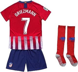 Kaner Mongkok 7 Griezmann New 18/19 Atletico Madrid Youths/Kids Home Soccer Jersey & Shorts & Socks