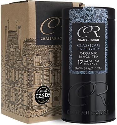 Classique Earl Grey, Thé Noir à la Bergamote, Feuille Entière Biologique en Vrac, Boîte Cadeau