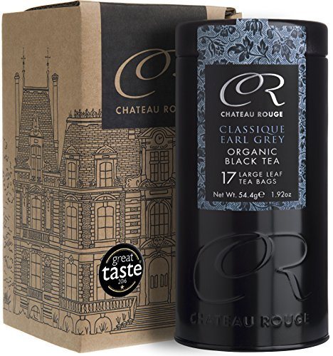 Klassischer Earl Grey BIO Schwarztee Bergamotte, Earl Grey Luxus Teebeutel, 17 Teebeutel in Teedose