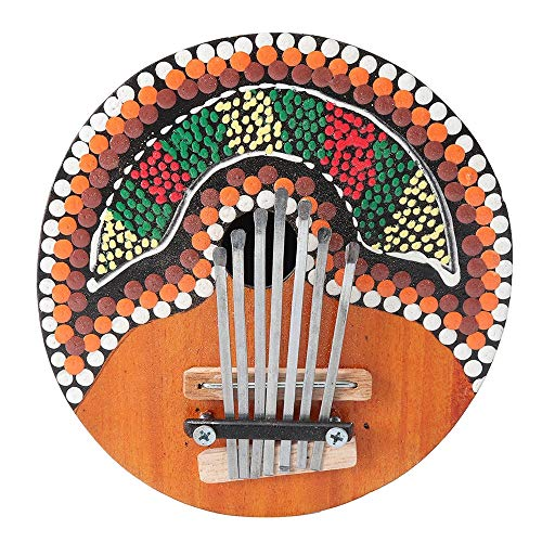 Thumb Piano 7 Keys Finger Piano Verstelbare geverfd Coconut Shell Kalimba Thumb Piano voor beginners en gevorderden (Color : Multi-colored, Size : One size)
