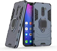 Compatible with Pocophone F1 Case, Metal Ring Grip Kickstand Shockproof Hard Bumper (Works with Magnetic Car Mount) Dual L...