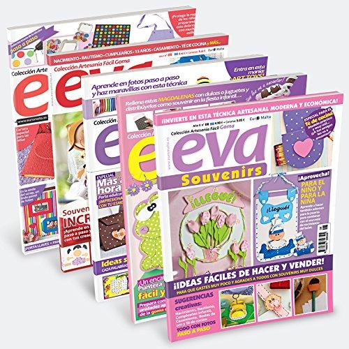 Pack Oferta 6 revistas Goma Eva 1 tela 50 50cm regalo