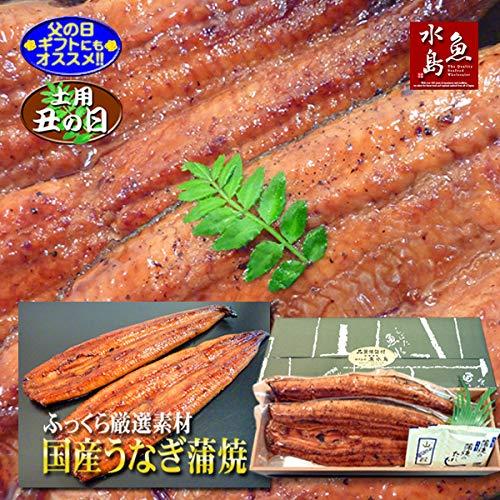 父の日ギフト 土用丑の日 魚水島 国産 鰻うなぎ蒲焼き ふっくら厳選素材 約30cm超特大 約200g×2尾 品質保証シール付