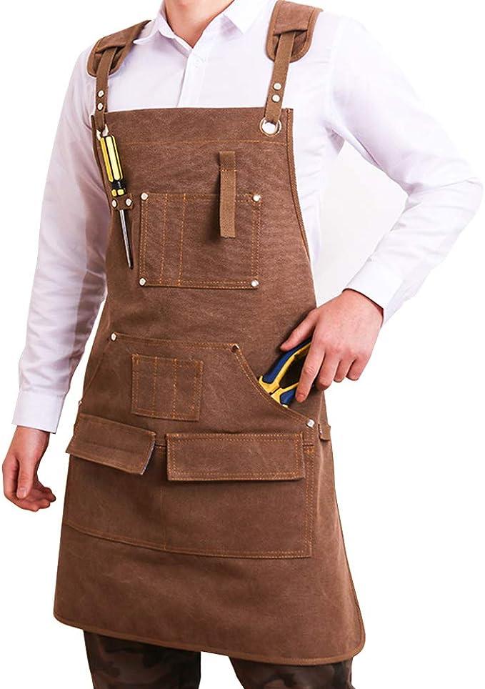 15 opinioni per Grembiule da uomo, in tela cerata, per carpentieri, per lavori di legno,