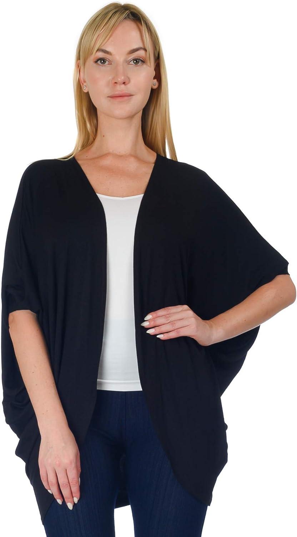 Simply Ravishing Women's Dolman Half Sleeve Open Cardigan (Size: S- 5X)