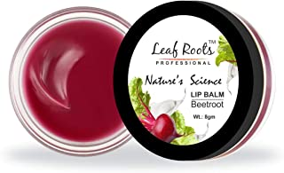 Leaf Roots Nature's Science Beetroot Lip Balm,100% Organic Lip Balm With Shea Butter, Cocoa Butter & Almond Oil, For Both ...