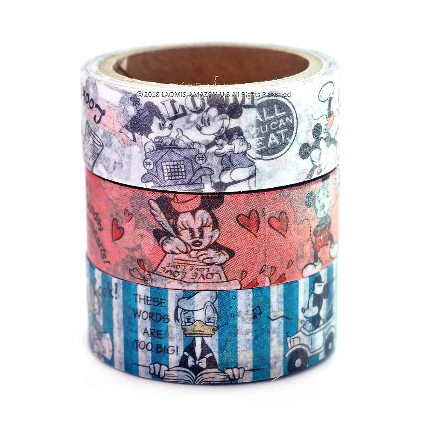 Japanese Masking Washi Tape/Set of 3 (Mickey & Minnie [ 86444 ])