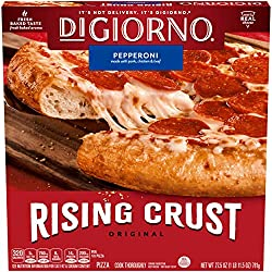 DiGiorno Original Rising Crust Pepperoni Frozen Pizza, 27.5 oz. Box – Quick and Easy Pizza with Fres