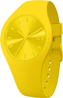 Ice-Watch - Ice Colour Citrus - Montre Jaune Mixte avec Bracelet en Silicone - 017909 (Medium)