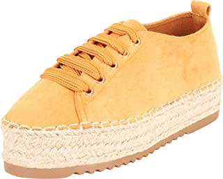Cambridge Select Women's Lace-Up Chunky Platform Espadrille Fashion Sneaker