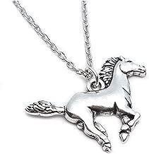 YuRocker Horse Pendant Necklace Women Little Girl Gift Jewelry - Stainless Steel
