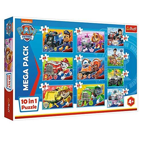 Trefl Mega Puzzle Box 10 en 1   Patrulla Canina   20, 35 y 48 Piezas   Paw Patrol
