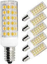 Set van 5 E14 LED-lampen, dimbaar, 60 W, 50 W, vervangt halogeenlamp, warm wit, 6 W, 220 V, 230 V, 3000 K, 600 lm, slaapka...