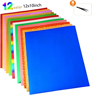 UHAPEER Papel Transfer Paper Transferencia Termica, Para Hacer Camisetas, letras, pegatinas, carteles 12 Color, 30 * 25cm