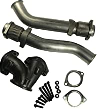 JDMSPEED New Powerstroke Turbo Diesel With Hardware Bellowed Up Pipe Kit 679-005 Replacement For Ford 7.3L 99-03