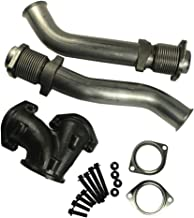 JDMSPEED New Powerstroke Turbo Diesel With Hardware Bellowed Up Pipe Kit For 99-03 Ford 7.3L 679-005