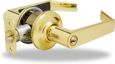 YH Collection Augusta Lever in Polished Brass - Entry