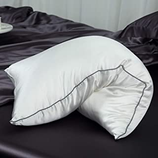 Orose Silk Filled Pillows with 100% 19momme Silk Shell, Breathable & Fluffy (100% Silk, Standard)