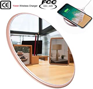Wireless charger, fast qi wireless charger charging pad,10W fast charging for Samsung Galaxy S10 S9 S9+ S8 S8+ Note8 LG V30 G6+, 7.5W qi wireless charger charging for iPhone X 8 8 Plus(No AC Adapter)