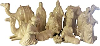 Nativity 15 Piece Set Ceramic Bisque Glaze with Mother of Pearl Finsh 7