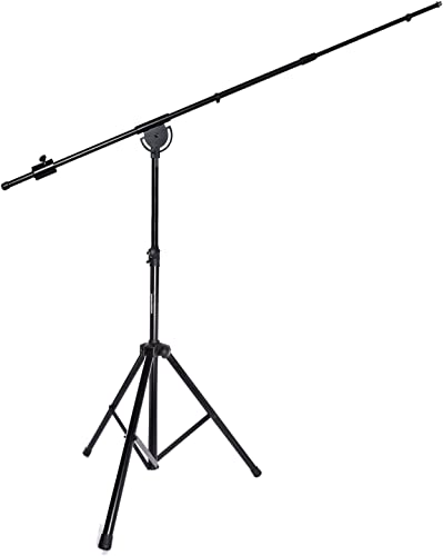 """high quality LyxPro SMT-1 Professional Microphone Stand Heavy Duty 93"""" Studio Overhead new arrival lowest Boom Stand 76"""" Extra Long Telescoping Arm Mount, Foldable Tripod Legs & Adjustable Counterweight outlet sale"""