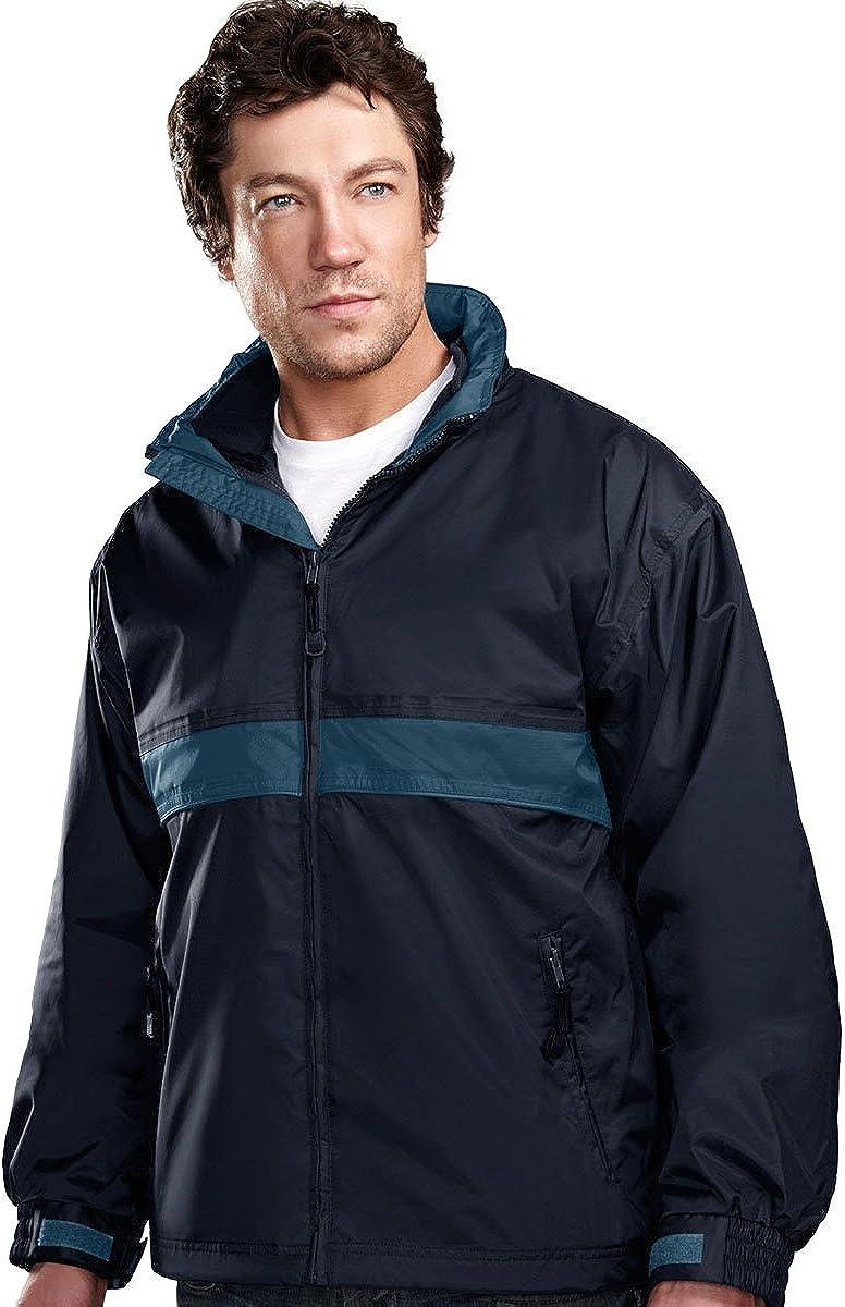 Tri-Mountain 7950 Mens waterproof nylon 3-in-1 jacket - Navy / Mountain Blue - XL
