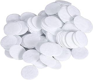 Filtros de microdermoabrasión, 500 unidades de filtros redondos de algodón para eliminación de puntos negros, máquina de belleza