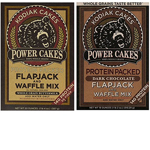 Kodiak Pancakes Mix Variety Pack. Convenient One-Stop Shopping For 2 Tasty Flapjack Power Cakes Pancakes and Waffle Mixes. Easy to Source These Popular Products With 1 Click. Breakfast Heaven!