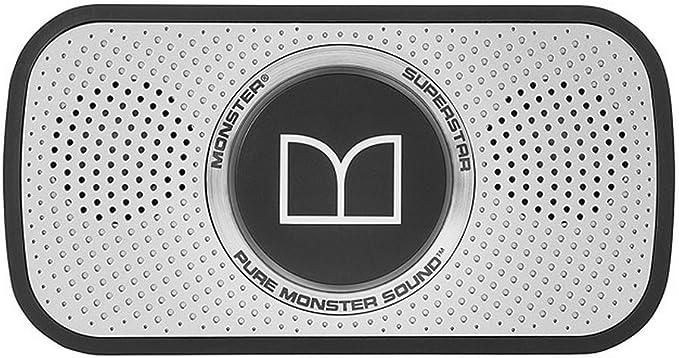 Monster Power Superstar High Definition Bluetooth Speaker (Black/Grey)-Ultra compact, Water-resistant